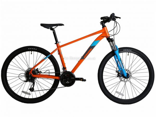 "Barracuda Colorado Alloy Hardtail Mountain Bike 17"", Orange, Blue, Altus Groupset, Alloy Frame, 24 Speed, 27.5"" Wheels, Triple Chainring, Disc, Hardtail"