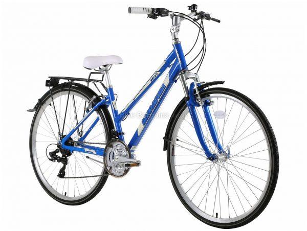 "Barracuda Ladies Vela 3 Alloy City Bike 17"", Blue, Tourney Groupset, Alloy Frame, 21 Speed, 700c Wheels, Triple Chainring, Caliper Brakes, Hardtail"