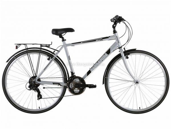 "Barracuda Vela 2 Alloy City Bike 21"", Grey, Black, Tourney Groupset, Alloy Frame, 21 Speed, 700c Wheels, Triple Chainring, Caliper Brakes"