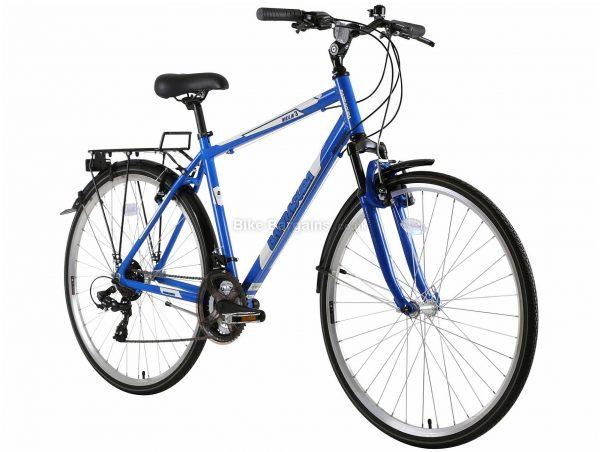 "Barracuda Vela 3 Alloy City Bike 21"", Blue, Tourney Groupset, Alloy Frame, 21 Speed, 700c Wheels, Triple Chainring, Caliper Brakes, Hardtail"
