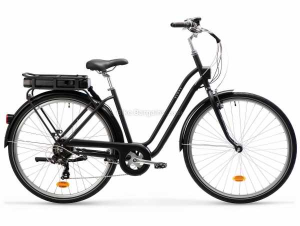 B'twin Elops 120e Steel Electric Bike M, Black, Steel Frame, 700c Wheels, 6 Speed, Caliper Brakes, Rigid, Single Chainring