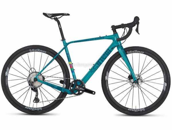 Cinelli King Zydeco GRX Carbon Gravel Bike 2021 M,XL, Turquoise, Carbon Frame, 11 Speed, SLX, GRX, 700c Wheels, Disc Brakes, Single Chainring