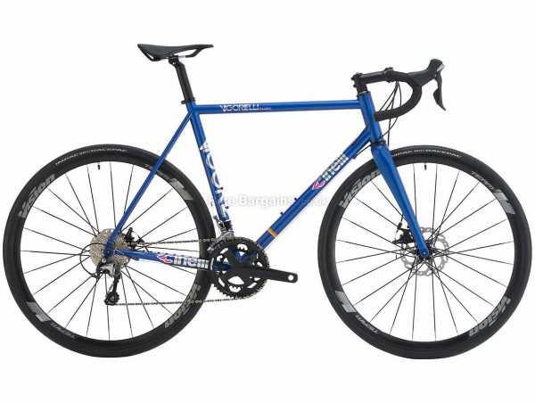 Cinelli Vigorelli Road Disc Tiagra Steel Road Bike 2021 53cm, Blue, Silver, Steel Frame, 20 Speed, Tiagra, 700c Wheels, Disc Brakes, Double Chainring