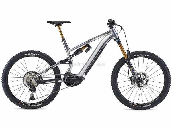 "Commencal Meta Power SX Signature Alloy Electric Full Suspension Mountain Bike 2021 M,L, Silver, Black, Alloy Frame, 12 Speed, SLX, XT, 27.5"" Wheels, Disc Brakes, Single Chainring"