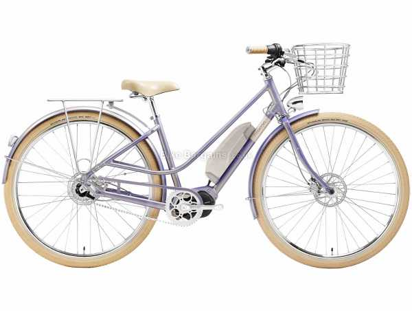 Creme Eve 'E7 Alloy Electric Bike 2021 M,L, Purple, Alloy Frame, 7 Speed, Nexus, 700c Wheels, Disc Brakes, Single Chainring