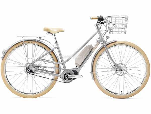 Creme Eve 'E7 Belt Drive Alloy Electric Bike 2021 M,L, Silver, Brown, Alloy Frame, 7 Speed, Nexus, 700c Wheels, Disc Brakes, Single Chainring
