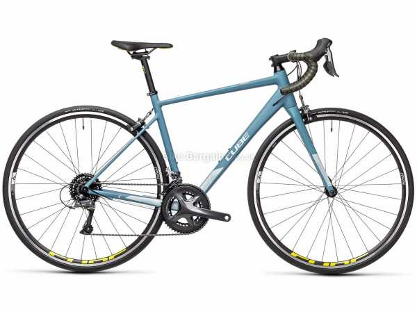 Cube Axial WS Alloy Road Bike 2021 47cm,53cm,56cm, Turquoise, Black, Alloy Frame, 16 Speed, Claris, 700c Wheels, Caliper Brakes, Double Chainring