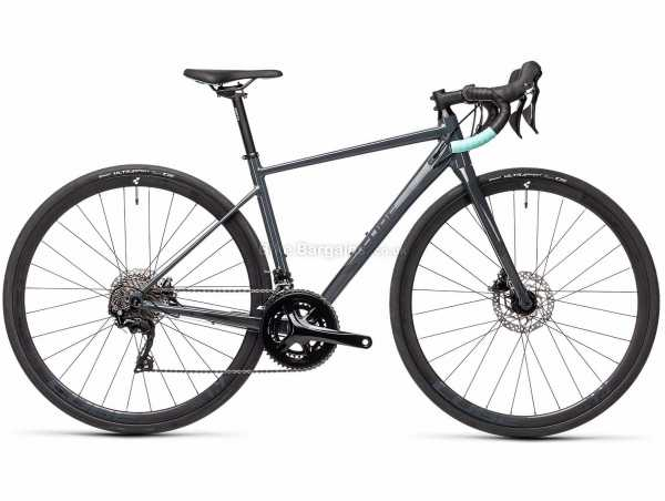 Cube Axial WS Race Alloy Road Bike 2021 56cm, Grey, Turquoise, Alloy Frame, 22 Speed, 105, 700c Wheels, Disc Brakes, Double Chainring