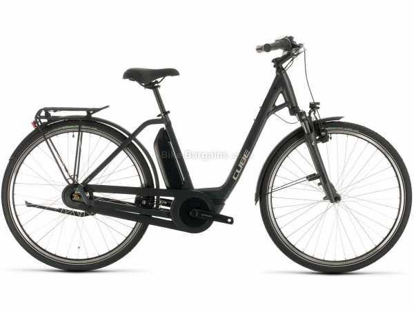 Cube Export Town Hybrid One 400 Alloy Electric Bike 2021 54cm, Grey, Black, Alloy Frame, 7 Speed, Nexus, 700c Wheels, Caliper Brakes, Single Chainring