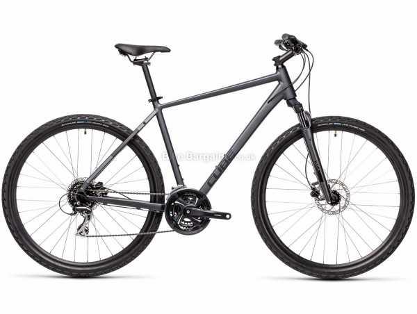Cube Nature Alloy City Bike 2021 50cm, Grey, Black, Alloy Frame, 700c Wheels, 24 Speed, Disc Brakes, Hardtail, Suspension, Triple Chainring