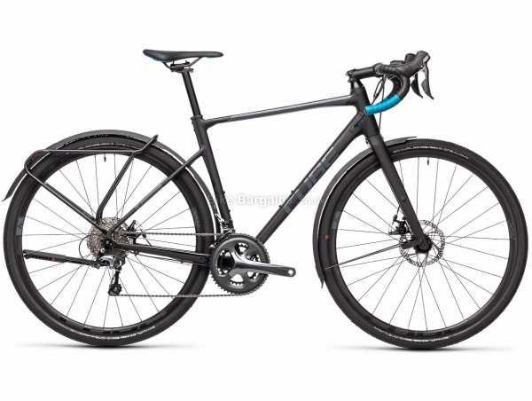 Cube Nuroad Pro FE Alloy Road Bike 2021 53cm, 56cm, Black, Alloy Frame, 20 Speed, Tiagra, 700c Wheels, Disc Brakes, Double Chainring