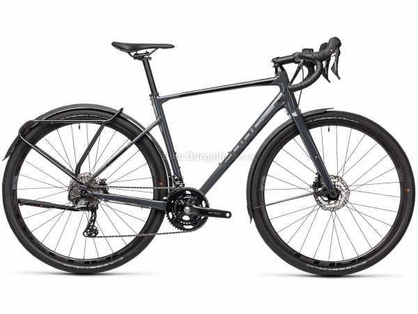 Cube Nuroad Race FE Alloy Road Bike 2021 53cm, Grey, Black, Alloy Frame, 22 Speed, GRX, 105, 700c Wheels, Disc Brakes, Double Chainring