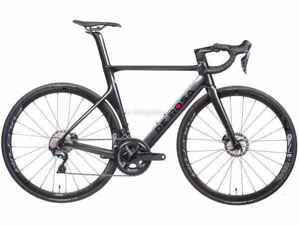 De Rosa SK Ultegra Di2 Carbon Road Bike 2021 56cm, Black, Carbon Frame, 22 Speed, Ultegra, 700c Wheels, Disc Brakes, Double Chainring