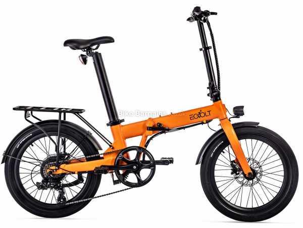 "EOVOLT Confort Lightweight Folding Alloy Electric Bike 2021 M, Blue, Grey, Orange, White, Alloy Frame, 7 Speed, 20"" Wheels, Disc Brakes, Single Chainring"