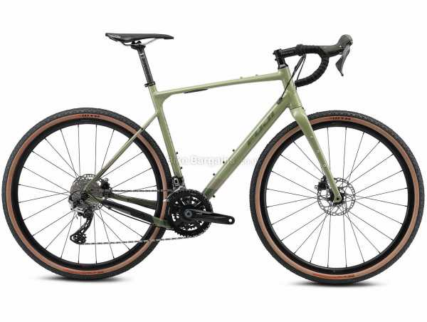 Fuji Jari 1.1 Alloy Gravel Bike 2021 52cm,54cm,55cm,57cm, Green, Alloy Frame, 22 Speed, 105, GRX, 700c Wheels, Disc Brakes, Double Chainring