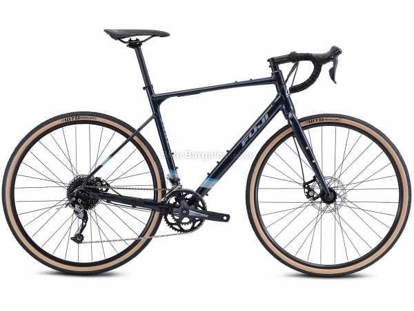 Fuji Jari 2.3 Alloy Gravel Bike 2021 54cm, Blue, Black, Alloy Frame, 18 Speed, Alivio, Sora, 700c Wheels, Disc Brakes, Double Chainring