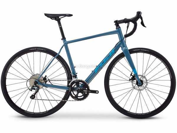 Fuji Sportif 1.3 Disc Alloy Road Bike 2021 52cm,56cm, Blue, Alloy Frame, 20 Speed, Tiagra, 700c Wheels, Disc Brakes, Double Chainring