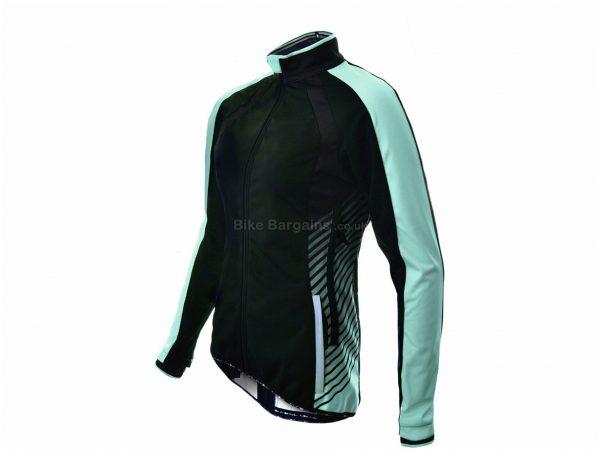 Funkier Tacona Ladies Soft Shell Windstopper Jacket S, Black, Turquoise, Long Sleeve, Waterproof, Windproof, Thermal, Zip