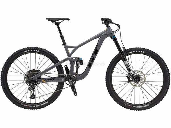 "GT Force Expert Alloy Full Suspension Mountain Bike 2021 XL, Grey, Black, Alloy Frame, 29"" Wheels, 12 Speed, Disc Brakes, Full Suspension, Single Chainring"