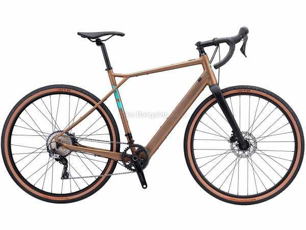 GT eGrade Amp Alloy Gravel Electric Bike 2021 M,L, Brown, Black, Alloy Frame, 11 Speed, GRX, SLX Drivetrain, 700c Wheels, Disc Brakes,