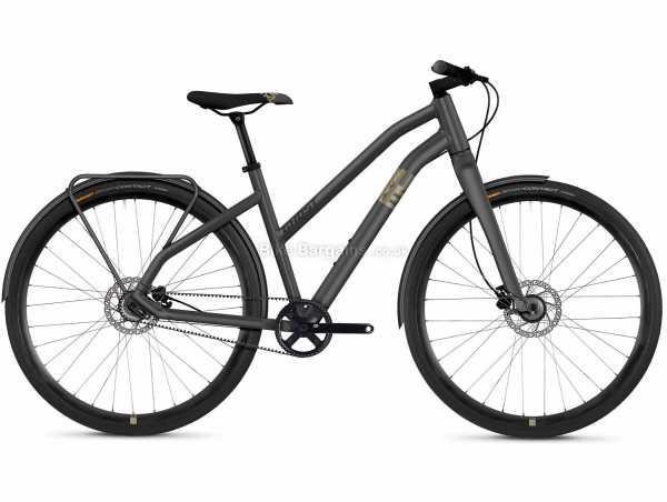 Ghost Square Urban 3.8 AL W Ladies Alloy City Bike 2021 XS, Grey, Alloy Frame, 2 Speed, 700c Wheels, Disc Brakes, 12.5kg