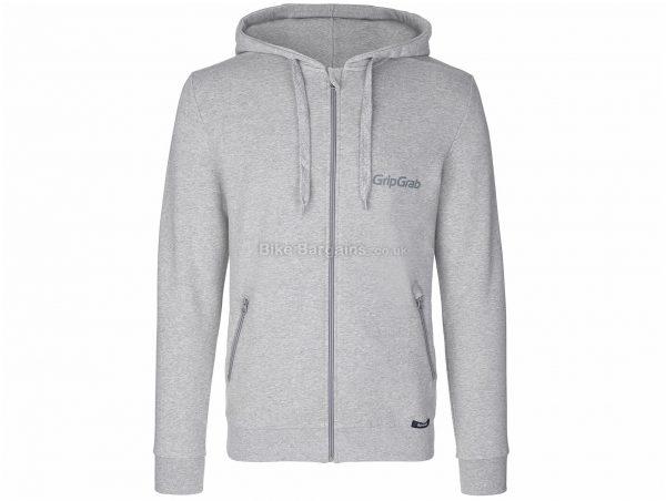 GripGrab Icon Long Sleeve Zipper Hoodie XL, Grey, Men's, Long Sleeve, Cotton, Polyester, Elastane