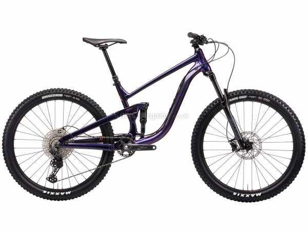 "Kona Process 134 27.5 Alloy Full Suspension Mountain Bike 2021 M, Purple, Black, Alloy Frame, 27.5"" Wheels, 11 Speed, Disc Brakes, Full Suspension, Single Chainring"