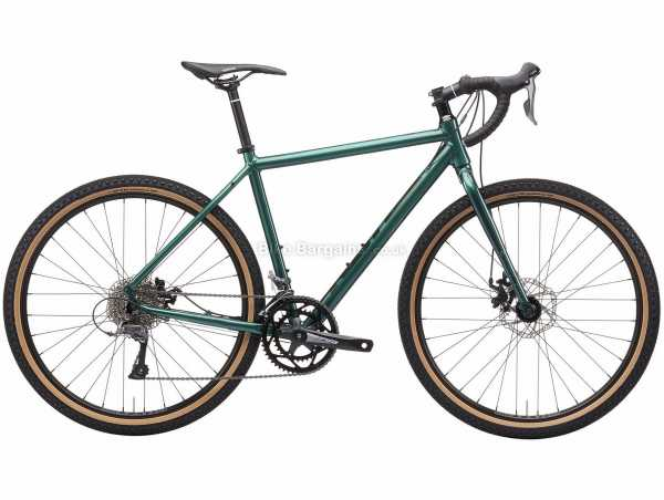 "Kona Rove AL 650 Alloy Gravel Bike 2021 56cm, Green, Alloy Frame, 27.5"" Wheels, 16 Speed, Disc Brakes, Rigid, Double Chainring"