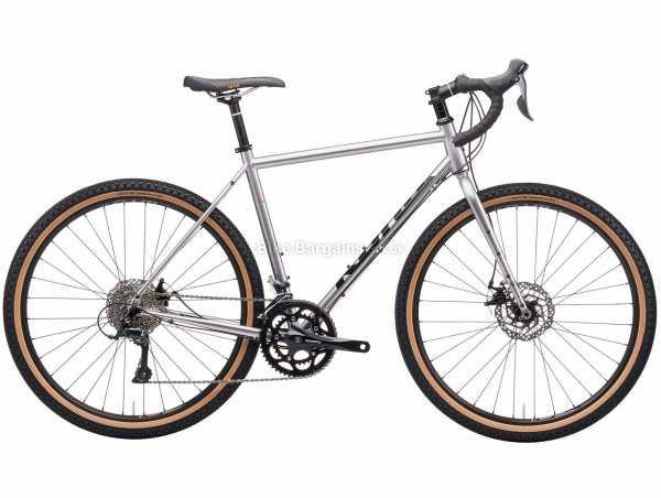 "Kona Rove Steel Gravel Bike 2021 48cm,56cm, Silver, Steel Frame, 18 Speed, Sora Drivetrain, 27.5"" Wheels, Disc Brakes,"