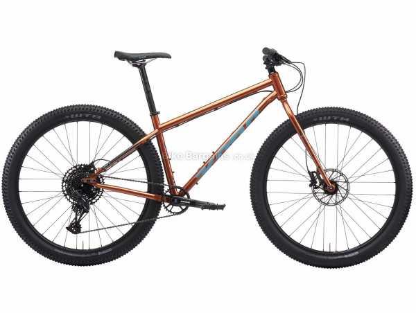 "Kona Unit X Steel Hardtail Mountain Bike 2021 S, Orange, Brown, Steel Frame, 12 Speed, SX Eagle Drivetrain, 29"" Wheels, Disc Brakes,"