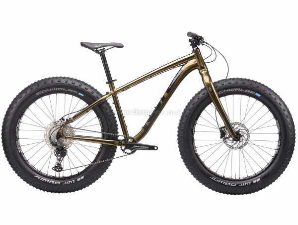 "Kona Wo Alloy Fat Mountain Bike 2021 XL, Brown, Alloy Frame, 26"" Wheels, 11 Speed, Disc Brakes, Rigid, Single Chainring"
