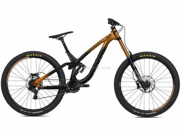 "NS Bikes Fuzz 29 1 Alloy Downhill Full Suspension Mountain Bike 2021 M,L, Brown, Black, Alloy Full Suspension Frame, 7 Speed, GX Drivetrain, 29"" Wheels, Disc Brakes, 16.4kg"