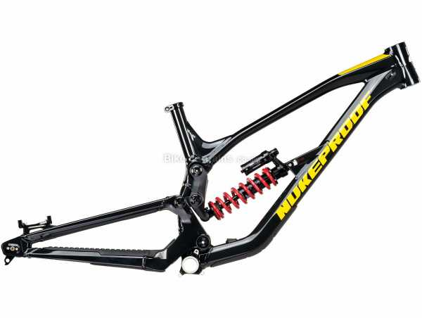 "Nukeproof Dissent 275 DH Alloy Full Suspension MTB Frame 2020 S, Black, Yellow, 27.5"" wheels, Alloy Full Suspension Frame, Disc Brakes, 3.95kg"