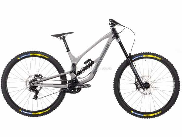 "Nukeproof Dissent 290 COMP GX DH Alloy Full Suspension Mountain Bike 2021 XL, Grey, Black, Alloy Full Suspension Frame, 7 Speed, GX Drivetrain, 29"" Wheels, Disc Brakes,"