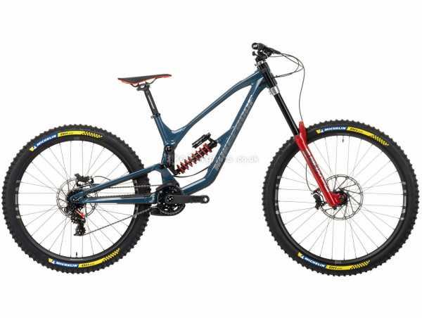 "Nukeproof Dissent 297 RS X01 DH Alloy Full Suspension Mountain Bike 2021 XL, Blue, Black, Red, Alloy Full Suspension Frame, 7 Speed, X01 Drivetrain, 29"", 27.5"" Wheels, Disc Brakes, 16.64kg"