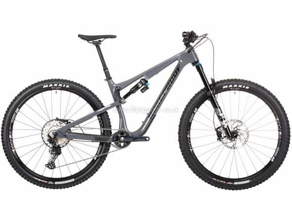 "Nukeproof Reactor 290 Elite SLX Carbon Full Suspension Mountain Bike 2021 XL, Grey, Black, Carbon Full Suspension Frame, 12 Speed, SLX Drivetrain, 29"" Wheels, Disc Brakes, 14.5kg"