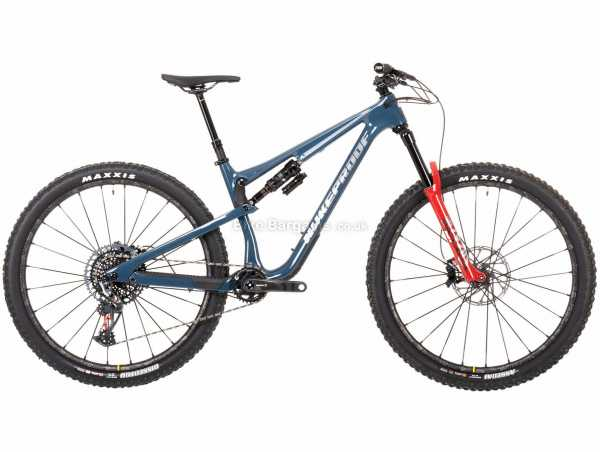 "Nukeproof Reactor 290 RS X01 Eagle Carbon Full Suspension Mountain Bike 2021 XL, Blue, Black, Red, Carbon Full Suspension Frame, 12 Speed, X01 Drivetrain, 29"" Wheels, Disc Brakes, 13kg"