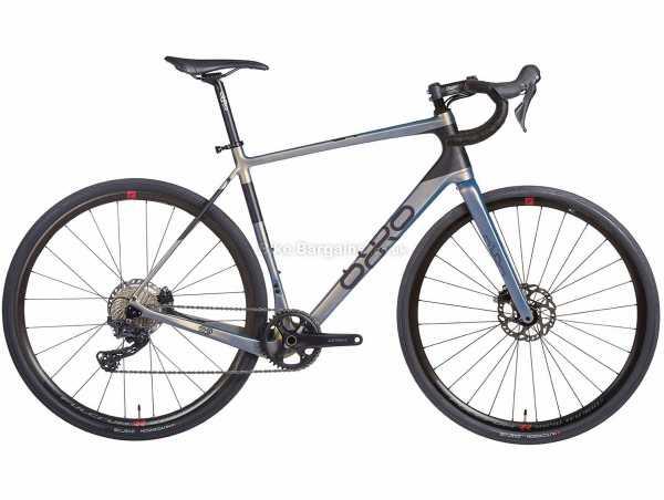 Orro Terra C GRX600 RR9 Carbon Gravel Bike 2021 S, Grey, Black, Blue, Carbon Frame, 11 Speed, GRX Drivetrain, 700c Wheels, Disc Brakes,