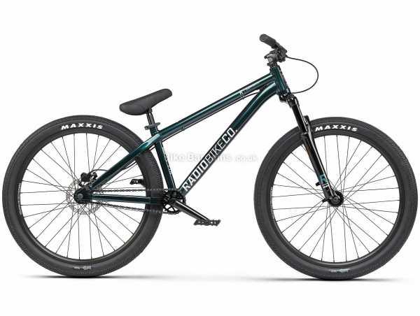 "Radio Griffin Dirt Jump Alloy Hardtail Mountain Bike 2021 M, Green, Black, Alloy Hardtail Frame, Single Speed, 26"" Wheels, Disc Brakes, 13.01kg"