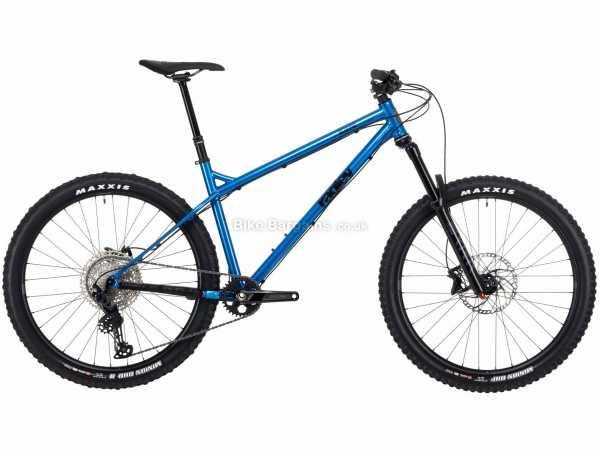 "Ragley Blue Pig Steel Hardtail Mountain Bike 2021 L, Blue, Black, Steel Hardtail Frame, 12 Speed, SLX, Deore Drivetrain, 27.5"" Wheels, Disc Brakes,"