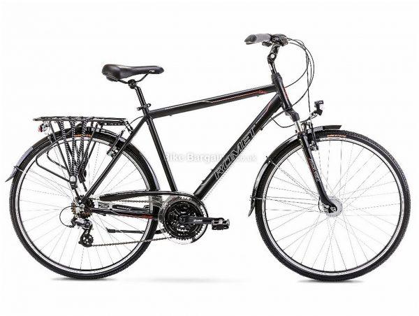 "Romet Track 1 Alloy City Bike 19"", Black, Altus Groupset, Alloy Frame, 21 Speed, 700c Wheels, Triple Chainring, Caliper Brakes, Hardtail"