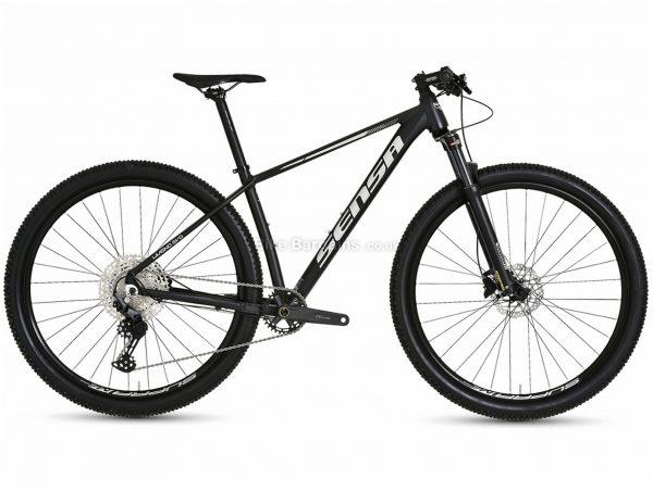 "Sensa Livigno Evo Limited Sport Alloy Hardtail Mountain Bike 2021 15"",17"", Black, Silver, Alloy Hardtail Frame, 29"" wheels, Disc, Single Chainring, 11 Speed, Deore Groupset"