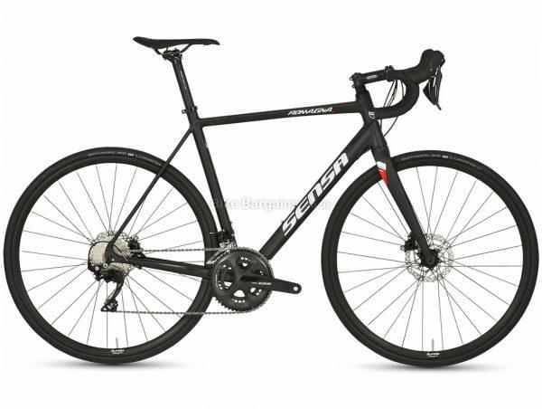 Sensa Romagna Disc 105 Alloy Road Bike 2021 51cm,54cm, Black, Alloy Frame, 700c wheels, Disc, Double Chainring, 22 Speed, 105 Groupset