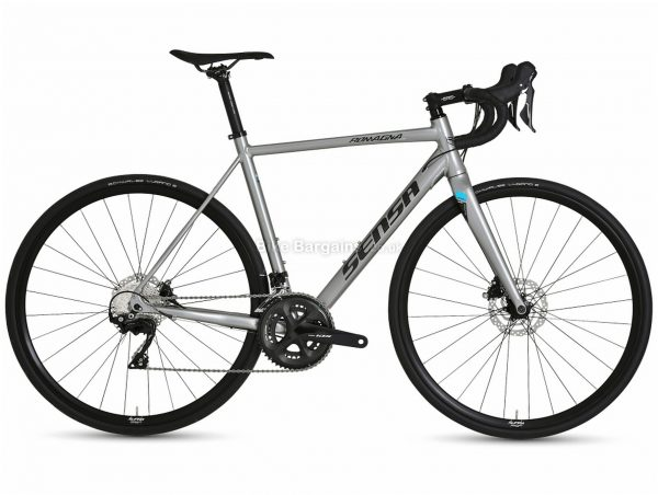 Sensa Romagna Disc Limited 105 Alloy Road Bike 2021 51cm,54cm,56cm,58cm, Grey, Alloy Frame, 700c wheels, Disc, Double Chainring, 22 Speed, 105 Groupset