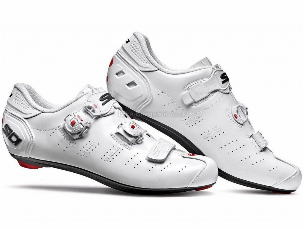 Sidi Ergo 5 Road Shoes 48, White, Boa, Velcro, 595g