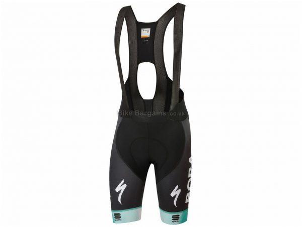 Sportful Bora Hansgrohe Bodyfit Pro Ltd Bib Shorts XXL, Black, Turquoise, Lycra, Silicone, 195g