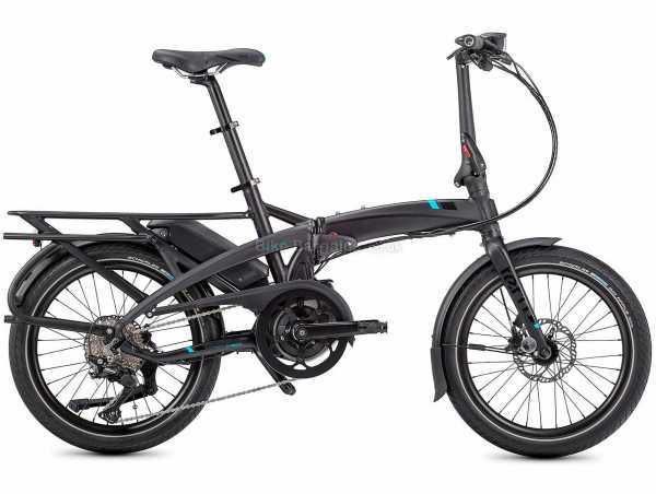"Tern Vektron S10 Folding Alloy Electric Bike 2021 M, Black, Grey, Alloy Frame, 10 Speed, Deore Drivetrain, 20"" Wheels, Disc Brakes, 22.1kg"