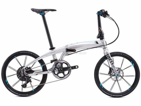 "Tern Verge X11 Folding Alloy City Bike 2021 20"", Silver, Black, Alloy Frame, 11 Speed, Force, X1 Drivetrain, 20"" Wheels, Disc Brakes, 10.2kg"
