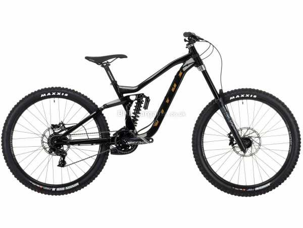 "Vitus Dominer Downhill Alloy Full Suspension Mountain Bike 2021 M, Black, Alloy Full Suspension Frame, 7 Speed, GX Drivetrain, 27.5"" Wheels, Disc Brakes,"