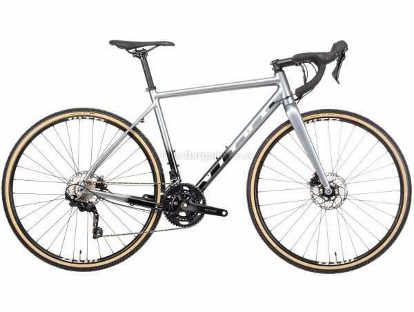 Vitus Energie GRX 400 Alloy Cyclocross Bike 2021 S, Silver, Black, Alloy Frame, 700c Wheels, 22 Speed, Disc Brakes, Rigid, Double Chainring